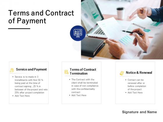 Terms And Contract Of Payment Ppt PowerPoint Presentation Styles Mockup