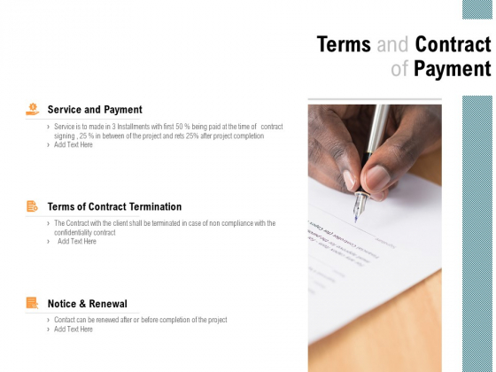 Terms And Contract Of Payment Service Ppt PowerPoint Presentation Professional Background Designs