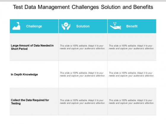 Test Data Management Challenges Solution And Benefits Ppt PowerPoint Presentation Pictures Show