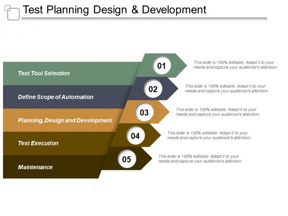 Test Planning Design And Development Ppt PowerPoint Presentation Example 2015