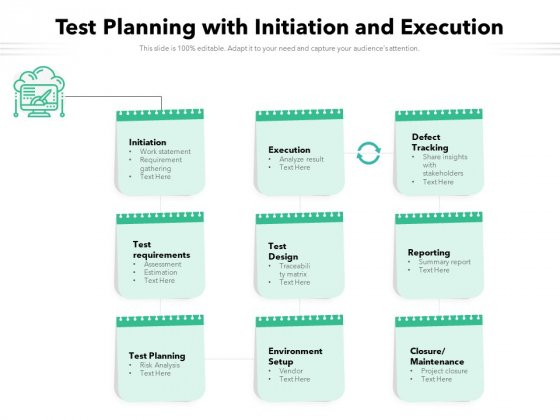 Test Planning With Initiation And Execution Ppt PowerPoint Presentation File Sample PDF