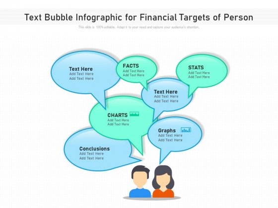 Text Bubble Infographic For Financial Targets Of Person Ppt PowerPoint Presentation File Professional PDF