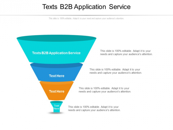 Texts B2B Application Service Ppt PowerPoint Presentation Professional Icons Cpb Pdf