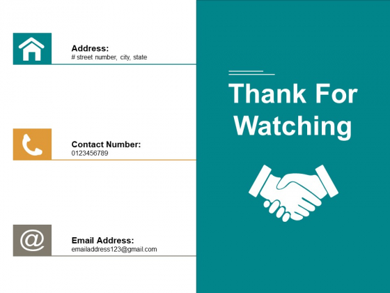 Thank For Watching Ppt PowerPoint Presentation Gallery Styles