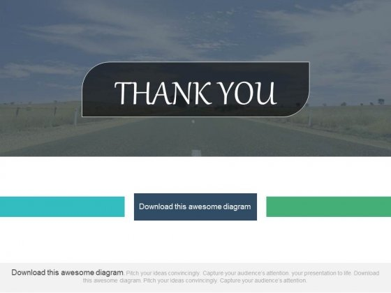 Thank You Design With Open Sky Background Powerpoint Slides