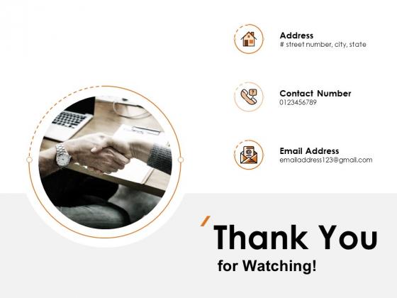 Thank You For Watching Company Results Ppt PowerPoint Presentation File Influencers