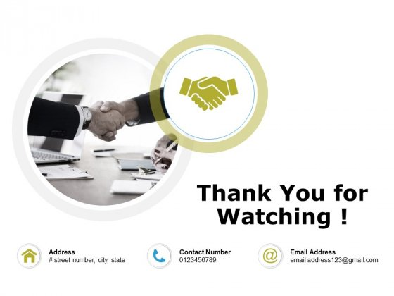 Thank You For Watching Integrated Planning Framework Ppt PowerPoint Presentation Ideas Templates