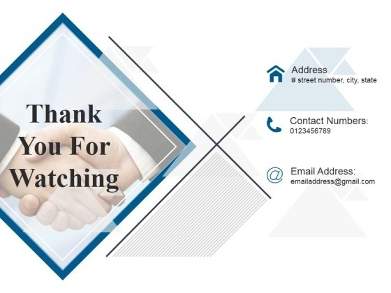 Thank You For Watching Ppt PowerPoint Presentation Portfolio Brochure