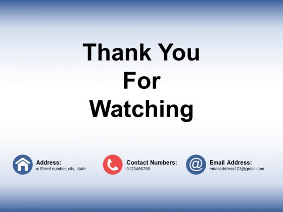 Thank You For Watching Ppt PowerPoint Presentation Show Themes