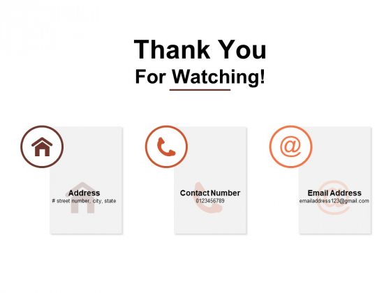 Thank You For Watching Transformation Chart Ppt PowerPoint Presentation Summary Portrait