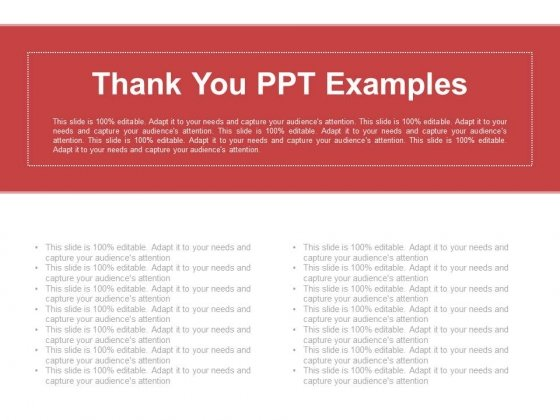 Thank You Ppt Examples
