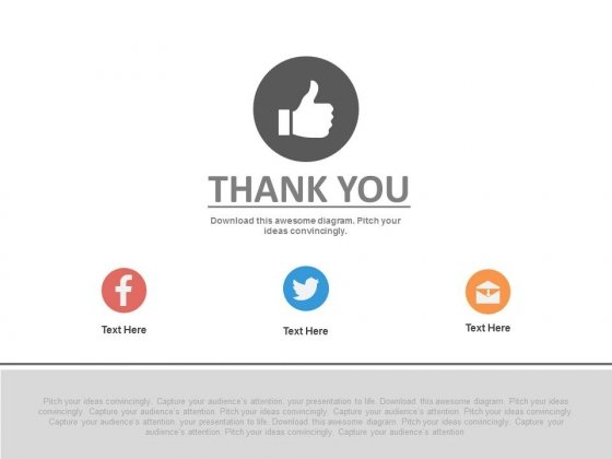 Thank You Slide With Social Media Icons Powerpoint Slides