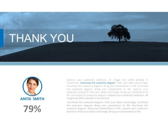 Thank You Slide With Tree Background Powerpoint Slides