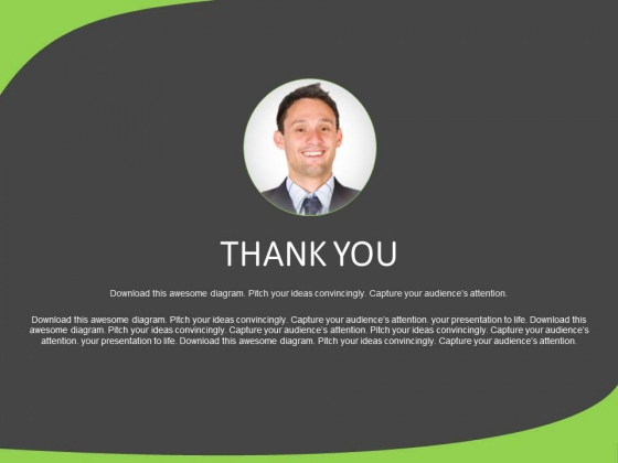 Thank You Text Slide With Manager Photo Powerpoint Slides