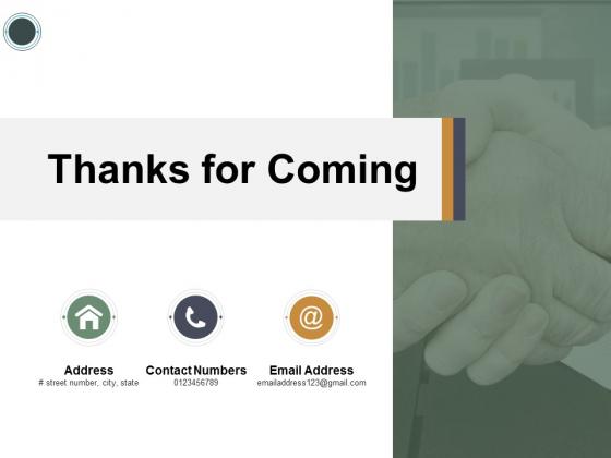 Thanks For Coming Social Media Marketing Ppt PowerPoint Presentation Ideas Portfolio
