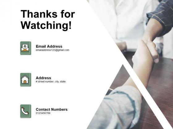 Thanks For Watching Bizbok Enterprise Blueprint Ppt PowerPoint Presentation Layouts Example