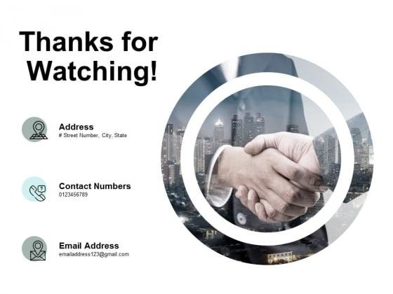 Thanks For Watching Bizbok Organisation Framework Ppt PowerPoint Presentation Inspiration Graphics Template