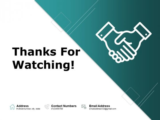 Thanks For Watching Business Advertising Ppt PowerPoint Presentation Summary Gallery