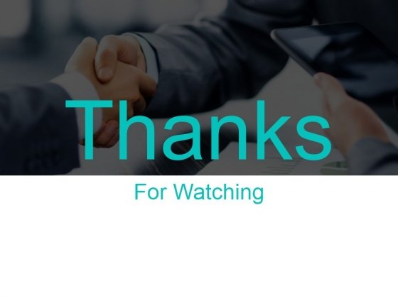 Thanks For Watching Ppt PowerPoint Presentation Example 2015