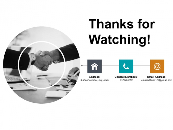 Thanks For Watching Ppt PowerPoint Presentation Icon Sample