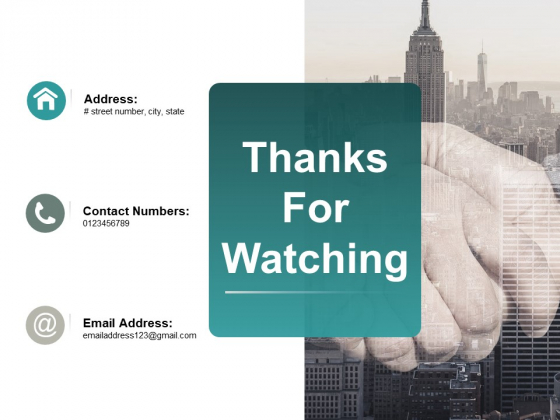 Thanks For Watching Ppt PowerPoint Presentation Infographics Guide