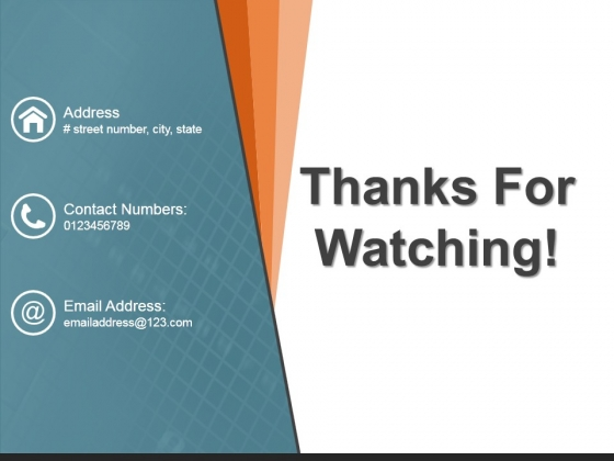 Thanks For Watching Ppt PowerPoint Presentation Model