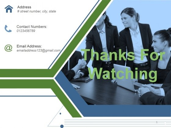 Thanks For Watching Ppt PowerPoint Presentation Portfolio Background