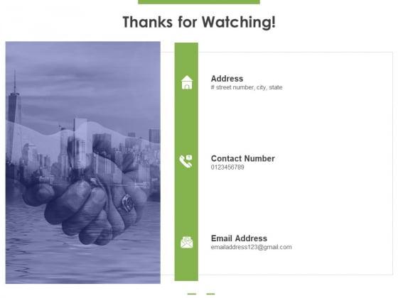 Thanks For Watching Ppt PowerPoint Presentation Portfolio Example PDF