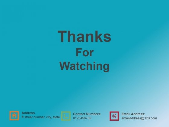 Thanks For Watching Ppt PowerPoint Presentation Professional Format Ideas