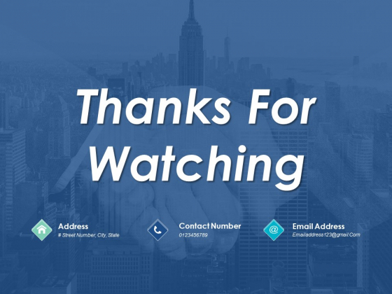 Thanks For Watching Project Management Ppt PowerPoint Presentation File Icon