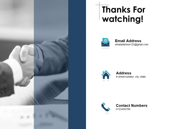 Thanks For Watching Smart Contracts Blockchain Ppt PowerPoint Presentation Ideas Vector