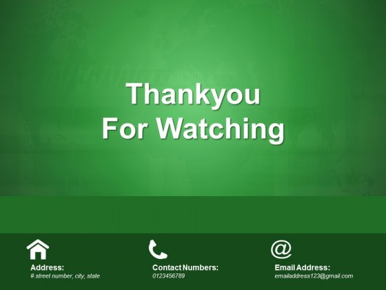 Thankyou For Watching Ppt PowerPoint Presentation Model Sample