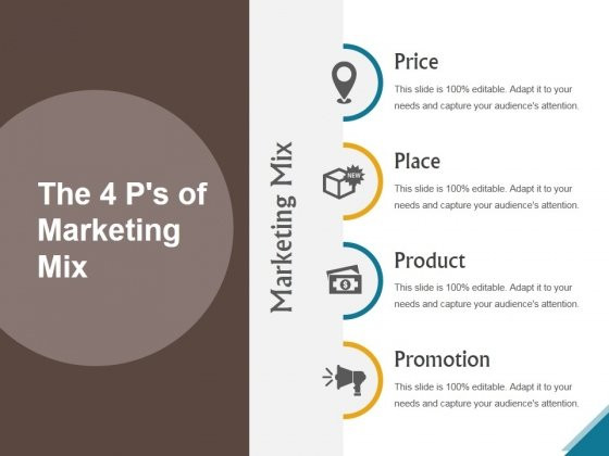 The 4 Ps Of Marketing Mix Ppt PowerPoint Presentation Designs Download