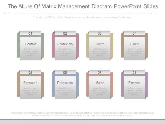 The Allure Of Matrix Management Diagram Powerpoint Slides