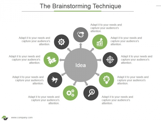 The Brainstorming Technique Ppt PowerPoint Presentation Styles Guidelines