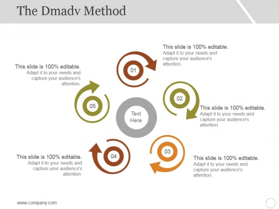 The Dmadv Method Ppt PowerPoint Presentation Ideas Graphic Tips