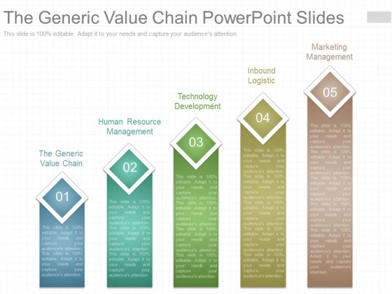 The Generic Value Chain Powerpoint Slides