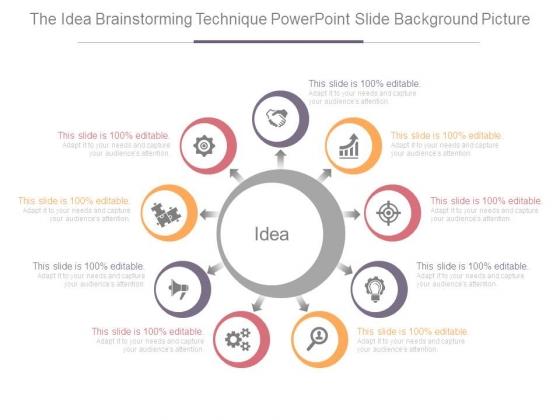 The Idea Brainstorming Technique Powerpoint Slide Background Picture