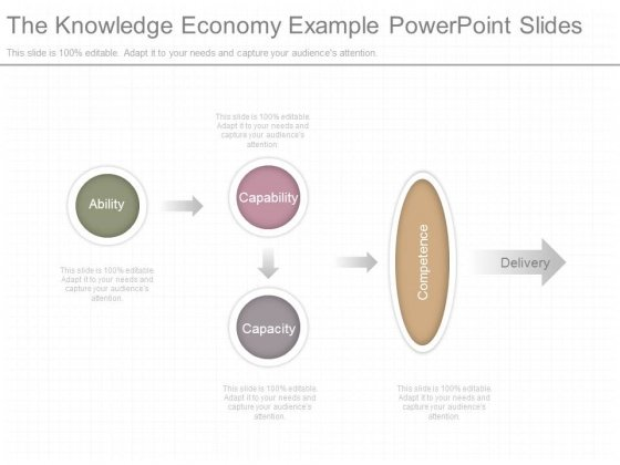 The Knowledge Economy Example Powerpoint Slides