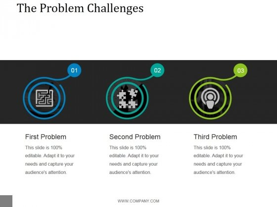 The Problem Challenges Template 1 Ppt PowerPoint Presentation Templates