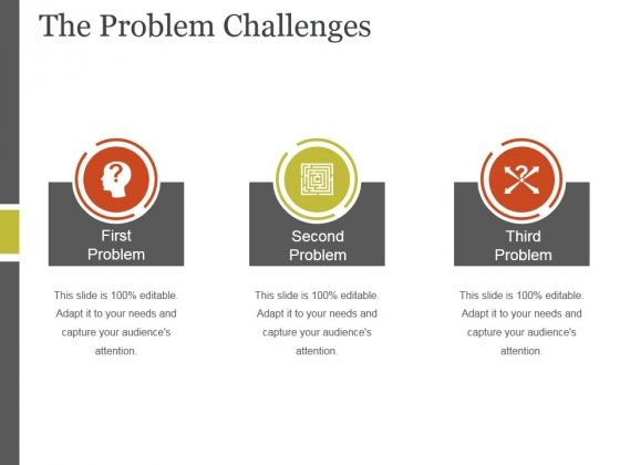 The Problem Challenges Template 2 Ppt Powerpoint