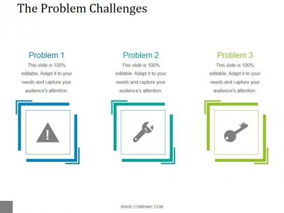 The Problem Challenges Template 2 Ppt PowerPoint Presentation Template