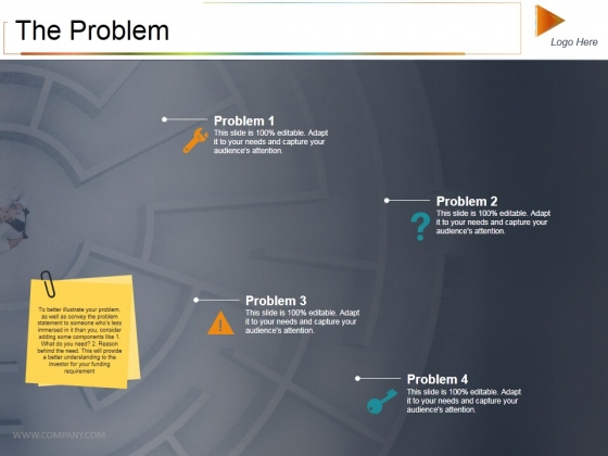The Problem Ppt PowerPoint Presentation Gallery Example Topics