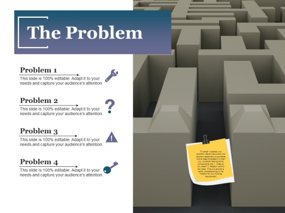 The Problem Ppt PowerPoint Presentation Model Professional