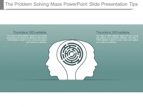 The Problem Solving Maze Powerpoint Slide Presentation Tips