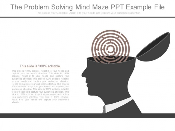 The Problem Solving Mind Maze Ppt Example File
