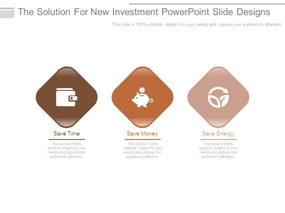 The Solution For New Investment Powerpoint Slide Designs