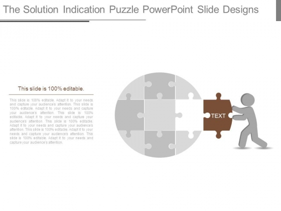 The Solution Indication Puzzle Powerpoint Slide Designs