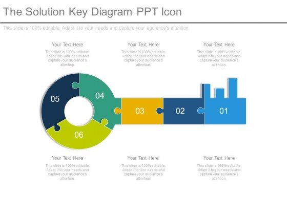 The Solution Key Diagram Ppt Icon