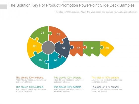 The Solution Key For Product Promotion Powerpoint Slide Deck Samples